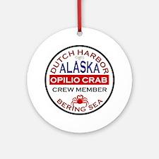 Dutch Harbor Bering Sea Crab Fishing Ornament (Rou