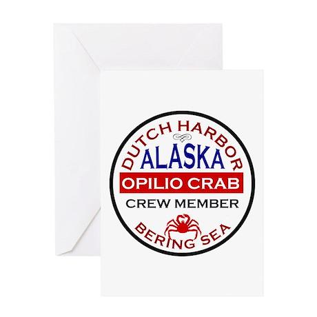 Dutch Harbor Bering Sea Crab Fishing Greeting Card