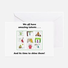 Metaphysical Talents Greeting Card