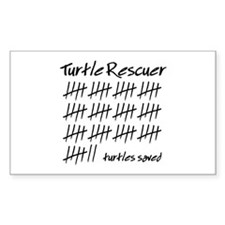 Turtle Rescuer Rectangle Decal