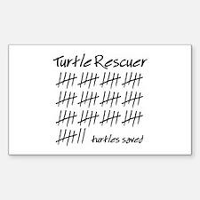Turtle Rescuer Rectangle Sticker 10 pk)