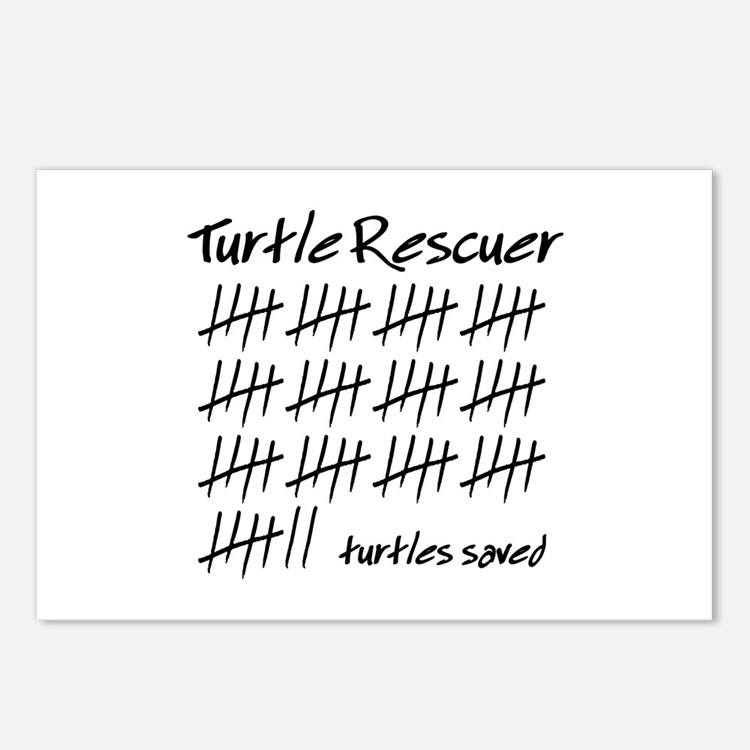 Turtle Rescuer Postcards (Package of 8)