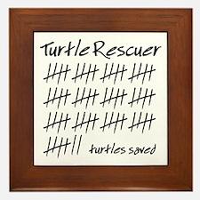 Turtle Rescuer Framed Tile