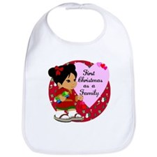 Chinese Girl Our First Christmas as a Family Bib