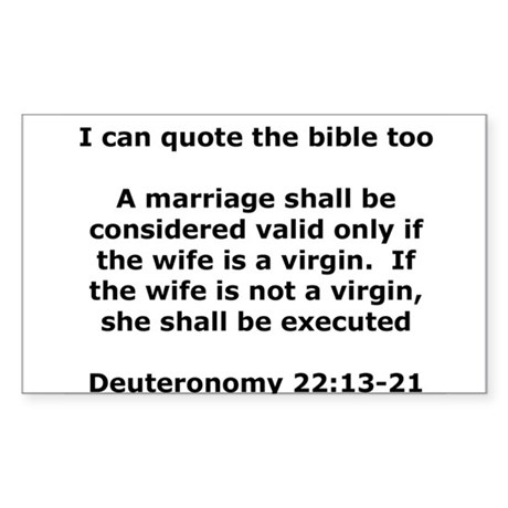 I can quote the bible too Rectangle Sticker
