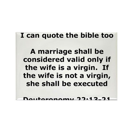 I can quote the bible too Rectangle Magnet (10 pac