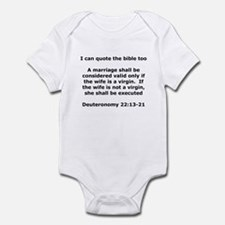 I can quote the bible too Infant Bodysuit