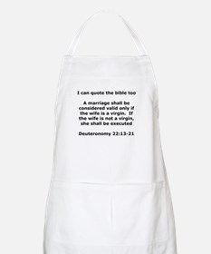I can quote the bible too Apron