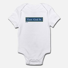 East 42nd Street in NY Infant Bodysuit