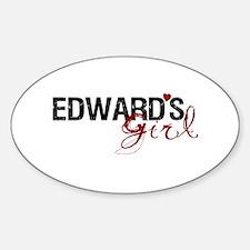 Edward's Girl Oval Decal