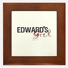 Edward's Girl Framed Tile