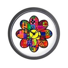 Sixties Flower Wall Clock