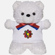 Sixties Flower Teddy Bear