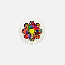 Sixties Flower Mini Button
