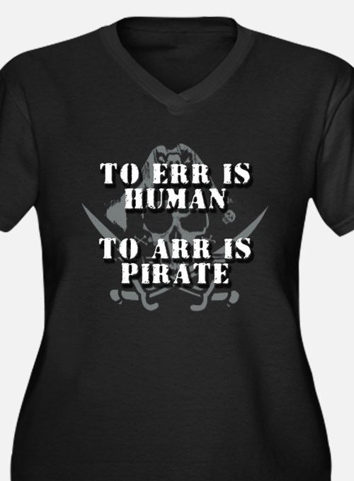 TO ERR IS HUMAN - TO ARR IS P Women's Plus Size V-
