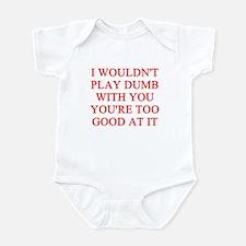 playing dumb Infant Bodysuit