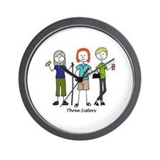 Cute Three sisters Wall Clock