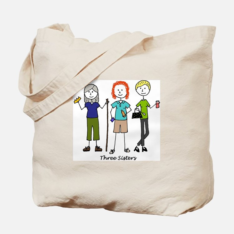 Cute Three sisters Tote Bag
