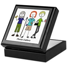Cute Three sisters Keepsake Box