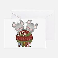 Christmas Mice Noel Greeting Card