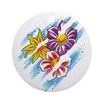Spring Flowers Ornament (Round)