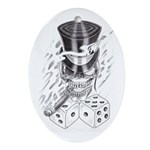 Smokin' Dice Oval Ornament