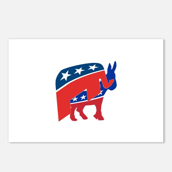 Cute Vote democratic party Postcards (Package of 8)