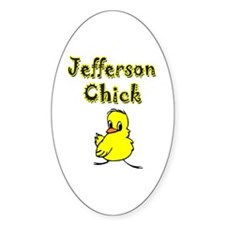 Jefferson Chick Oval Decal