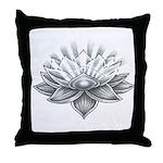 Lucky Lotus Throw Pillow