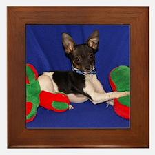 Toy Fox Terrier Framed Tile