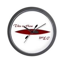 This Is How I Roll (Maroon) Wall Clock