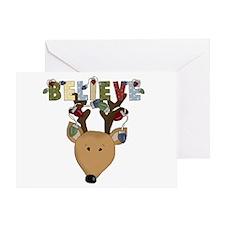 Reindeer Believe Greeting Card