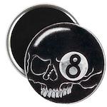 """Eight Ball Skull 2.25"""" Magnet (10 pack)"""