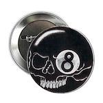 "Eight Ball Skull 2.25"" Button (10 pack)"