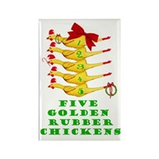 5 Rubber Chickens Rectangle Magnet