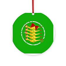 5 Rubber Chickens Ornament (Round)