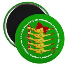 5 Rubber Chickens Magnet