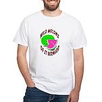 Katrina Watermelon White T-shirt