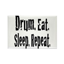 Drum.Eat.Sleep.Repeat. Rectangle Magnet