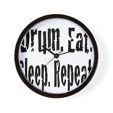 Drum.Eat.Sleep.Repeat. Wall Clock