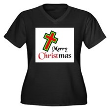KEEP CHRIST IN CHRISTMAS Women's Plus Size V-Neck