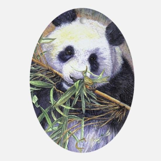 Panda Oval Ornament