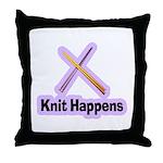 Knit Happens Kitting Happens Throw Pillow