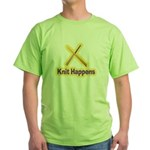 Knit Happens Kitting Happens Green T-Shirt