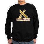 Knit Happens Kitting Happens Sweatshirt (dark)