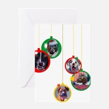 Christmas Dog Ornaments Greeting Card
