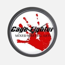 Cage Fighter Bloody Handprint Wall Clock