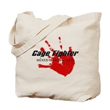 Cage Fighter Bloody Handprint Tote Bag