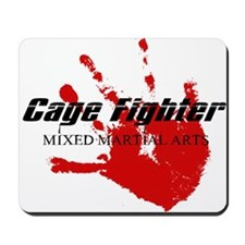 Cage Fighter Bloody Handprint Mousepad