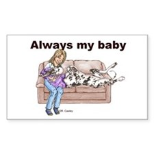 CH Always My Baby Rectangle Decal
